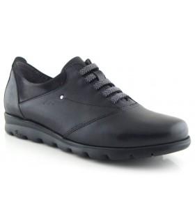 Zapato con elásticos en piel negra