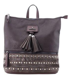 Bolso marrón para mujer con borlas