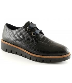 Zapato en coco negro para mujer