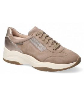 Zapatos para mujer en piel taupe