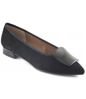 Zapatos en ante negro para mujer