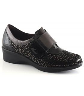 Zapatos de confort en negro y antracita