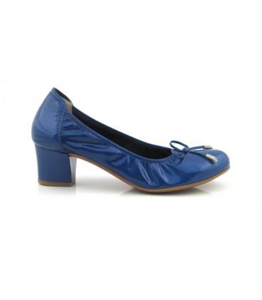 Salón mujer charol azul