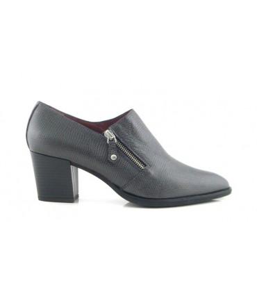 Zapato abotinado con cremallera