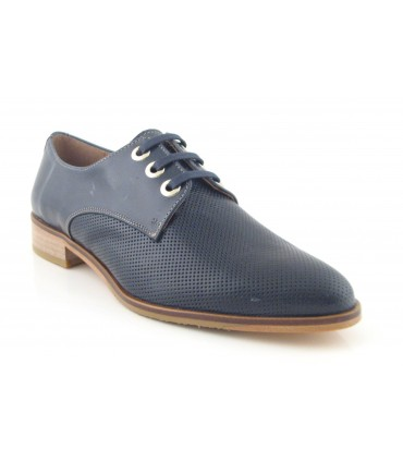 Zapato de cordones color marino