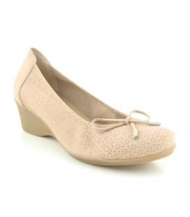 Zapato confort nobuck beige