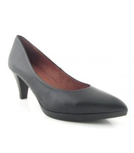 Zapato salón piel negra