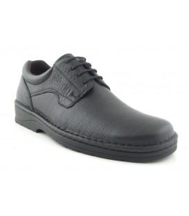 Zapato de cordones negro clásico
