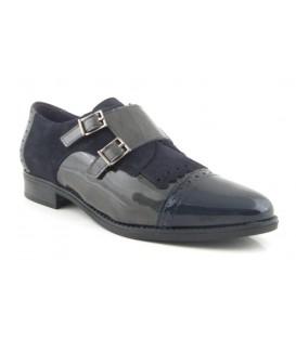Zapato de dos hebillas para mujer