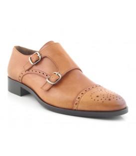 Zapato clásico cuero con dos hebillas