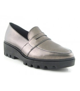 Zapato Mocasín mujer NATURE 3696 GRIS