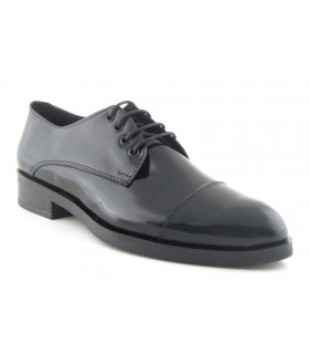 Zapato Cordones mujer NATURE 3556 NEGRO
