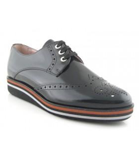 Zapatos de cordones negro