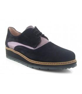 Zapatos de cordones en serraje negro