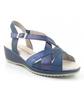 Sandalia de confort azul marino