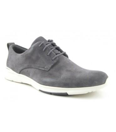 Zapato de cordones gris oscuro