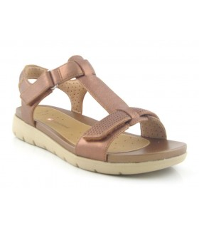 Sandalia de confort con velcros