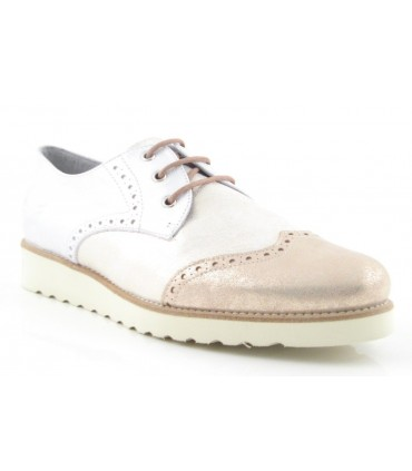 Zapato blucher metalizado