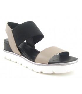 Sandalia de mujer con suela blanca