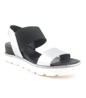 Sandalia de mujer con elástico