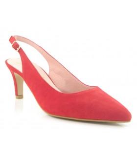 Zapato destalonado color rojo