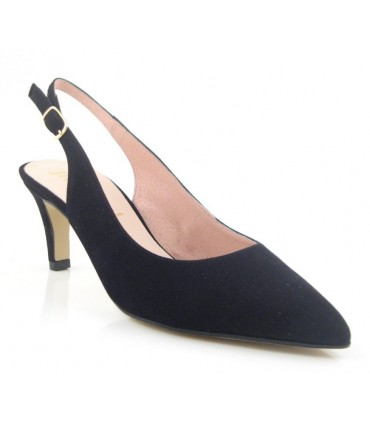 Zapato destalonado color negro
