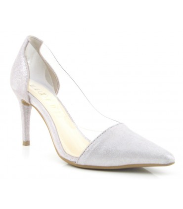Zapatos de vestir combinado vinilo metalizado