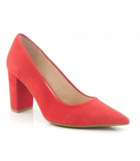 Zapato salón ante rojo