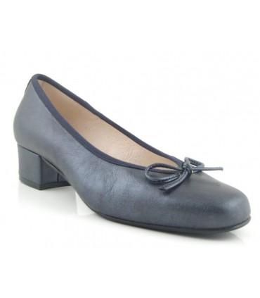 Zapato salón mujer marino