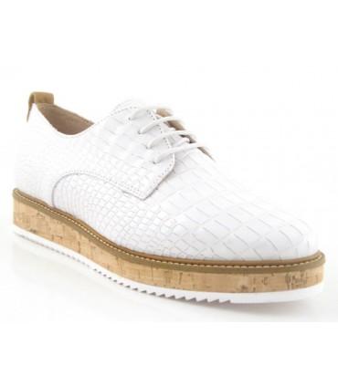 Zapatos de cordones con suela de corcho