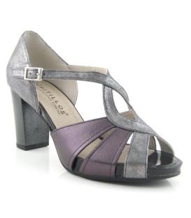 Zapato con plataforma con tacón de vestir