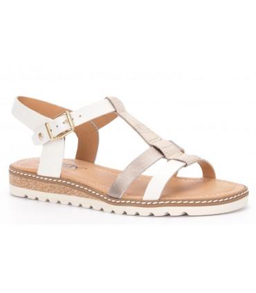 Sandalia plana color blanco