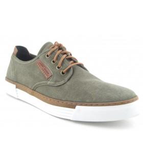 Zapatos color verde con cordones