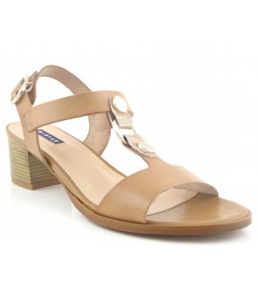 Sandalia color cuero para mujer