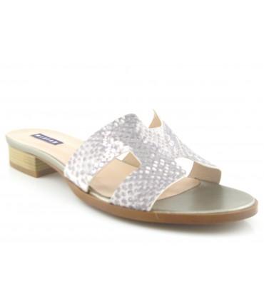Sandalia en forma de H color blanco