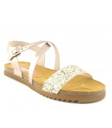 Sandalia con glitter y suela bio