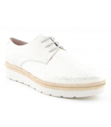 Zapatos de cordones color blanco