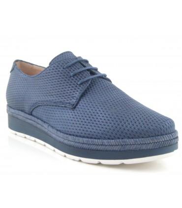 Zapato con cordones color jeans