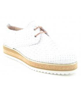 Zapato trenzado blanco