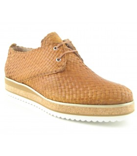 Zapato Cordones mujer ANDREA CHENIER 2201 CUERO