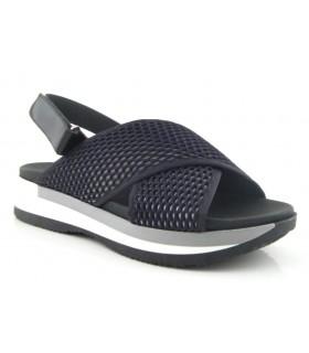 Sandalia con tejido color gris