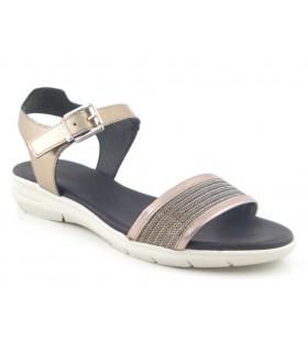Sandalia plana color latón