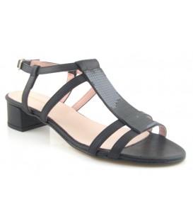 Sandalias de tacón bajo negras