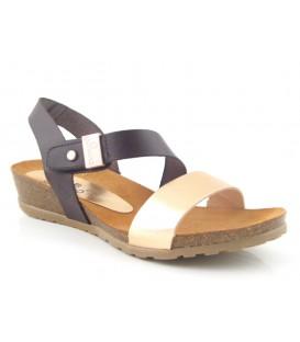 Sandalia marrón para mujer