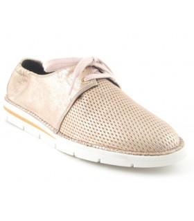 Zapato de cordones metalizado