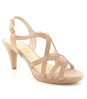 Sandalia de tacón fino color nude