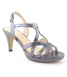 Sandalia de vestir color plomo