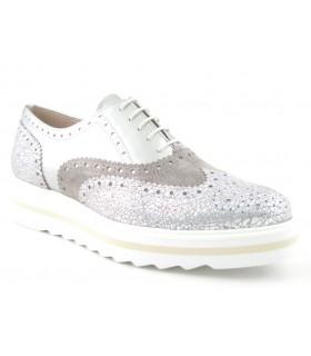 Zapato metalizado plata