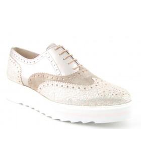 Zapato pala vega con suela blanca