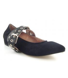 Zapato salón con hebilla